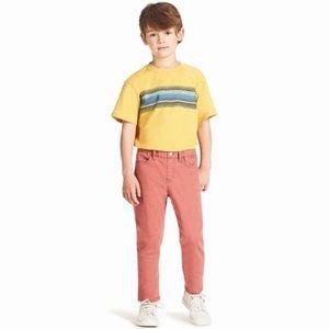NWT UNIQLO KIDS 7-8 Stretch Pants Slim Straight
